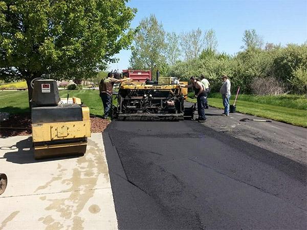 asphalt paving a street