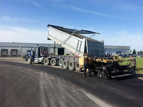 asphalt paving warehouse parking lot