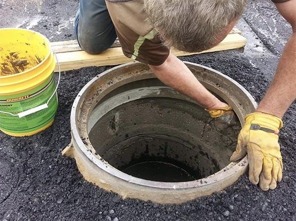 repairing drain by hand